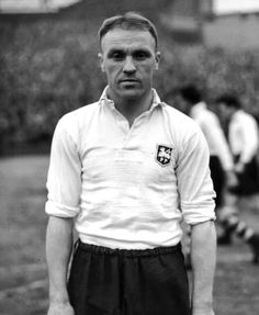 "William ""Bill"" Shankly (Preston North End FC, 1933–1949, 297 apps, 13 goals) at the end of his career in 1948, one year before he took his 1st managerial job at Carlisle United FC."