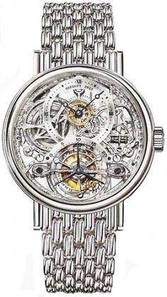Breguet Tourbillion Skeleton Dial Platinum Men's Watch 3355PT00PA0