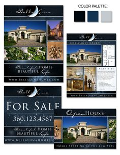 """Bella Luna"" is one of the latest designs in our Instant Identity real estate #branding gallery."
