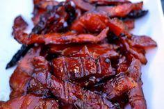 Sweet Salmon Jerky - won't be using smoker so add liquid smoke. Jerky Recipes, Traeger Recipes, Grilling Recipes, Meat Recipes, Salmon Recipes, Fish Recipes, Seafood Recipes, Smoking Recipes, Gastronomia
