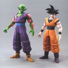 Incredible Papercraft: Piccolo and Goku- Site is in Portuguese? But just click on the BAIXAR MODELO (download model?) next to their respective pics to download .PDO files