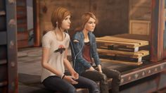 Life is Strange Before the Storm - Chloe & Rachel in train. Episode 1. I'm soooo in love with this game!