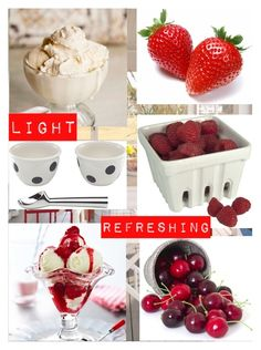 """""""Berry Delicious"""" by littlemisshorovedy ❤ liked on Polyvore featuring interior, interiors, interior design, home, home decor, interior decorating, Kate Spade, Artland, icecreamtreats and summerfave"""