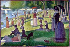 Seurat, Art Institute in Chicago. (Have actually seen this in person and it's so beautiful.)