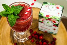 Get up and get your day started with @sophieuliano's refreshing #Hibiscus #Cranberry Crush with #Mint Foam! Catch every recipe by watching Home & Family weekdays at 10a/9c on Hallmark Channel!