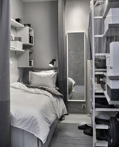 Comment créer une toute petite chambre de moins de dans un salon ? - PLANETE DECO a homes world Grey Room Decor, Bedroom Decor, Bedroom Ideas, Small Rooms, Small Spaces, Day Bed Frame, Small Master Bedroom, Home Staging, Interior Design Living Room
