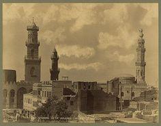 Caire. Vue générale de la Mosquée Sultan Kalaoun