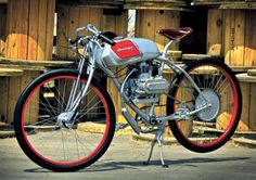 The Derringer Cycle was designed by Adrian Van Anz to be a low-cost, low-speed gas-powered unit of personal transportation that can be ridden (in California, at least) with no registration or insurance; all you need is a regular driver's license. (Photo by Steve Bohn, article by Alan Cathcart, Motorcycle Classics magazine, November/December 2011)
