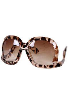 Oversized Square Leopard Sunglasses