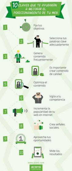 Mejora el #Posicionamiento de tu #Web con estos 10 consejos. #SEO #MarketingOnline