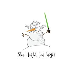 'Silent Knight, Jedi Knight' Star Wars Christmas Card | Notonthehighstreet More