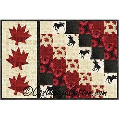 Oh Canada Sixes Table Mat Quilt Kit Canada table mat Mug Rug Patterns, Quilt Block Patterns, Quilt Blocks, Blue Quilts, Small Quilts, Mini Quilts, Quilting Projects, Quilting Designs, Quilting Ideas