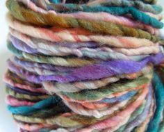 Desert Surprise Handspun Yarn Thick and Thin by RainbowTwistShop, $46.75