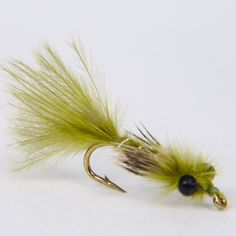 4 yellow owls black size 12 trout flies barbless