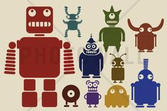Team of Robots - Canvas-taulut (maalaus) - Photowall
