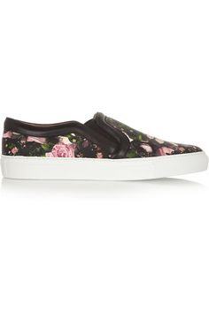 b7834ad575 Givenchy - Skate shoes in floral-print and black leather