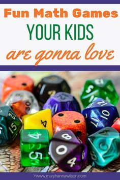 The most fun math games that your kids will love playing. From dice games to board games, your tweens and teens will love these games that reinforce math skills. Logic Games For Kids, Fun Math Games, Dice Games, Family Games, Math Activities, Math Skills, Math Lessons, Homeschool Math, Homeschooling