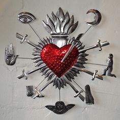 Fear Of Darkness by claudio iacono dj on SoundCloud Heart Art, Love Heart, Sacred Heart Tattoos, Dying Of The Light, Tin Art, Spiritus, Heart Of Jesus, Mexican Folk Art, Religious Art