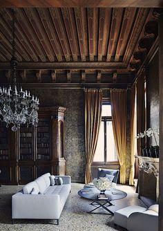 Venice - restored 16th-century palazzo complete with handmade Murano chandeliers. Simon Watson.