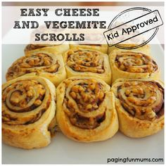 Cooking with kids Archives - Page 2 of 16 - Paging Fun Mums Vegemite Scrolls, Scrolls Recipe, Vegemite Recipes, Savoury Slice, Kids Meals, Easy Meals, Fruit Plus, Lunch Box Recipes, Lunchbox Ideas