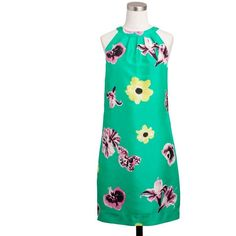 J.Crew Swoop dress in punk floral ($178) ❤ liked on Polyvore. My favorite dress this summer. Sooo comfortable too! Love it!
