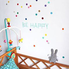 set of 40 reusable dots wall stickers by little baby company | notonthehighstreet.com