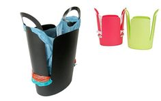 Reuse Plastic Bags with Creative Trash Can Design