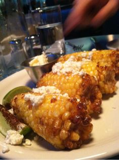 Corn form Steuben's Food Service in Denver, CO. As seen on MapMuse's Diners, Drive-Ins, and Dives Locator app.