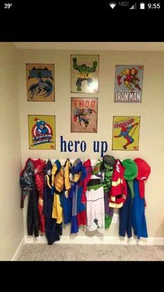 Dress up area organization idea for all the costumes!!