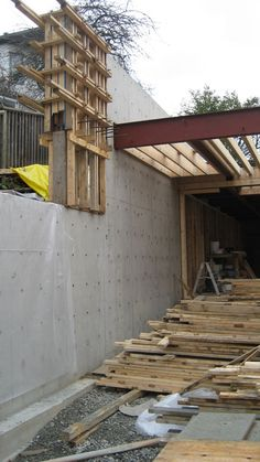 steel+beam-to-concrete+wall-connection
