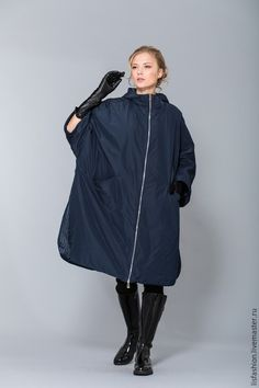Верхняя одежда ручной работы. Ярмарка Мастеров - ручная работа. Купить Пальто 1525W. Handmade. Синий, пальто демисезонное