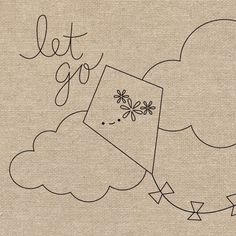 Let Go (of Your Kite) embroidery pattern Wild Olive Embroidery Pattern
