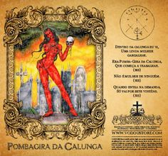 The Vodou Store Candle Label - Pombagira de Calunga - Wiccan Spells, Magick, Witchcraft, Mythological Creatures, Mythical Creatures, Voodoo Tattoo, Banana Art, Pagan Gods, Satanic Art