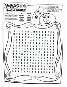 VeggieTales Coloring Pages Family