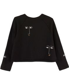 Black Figurine Sweater