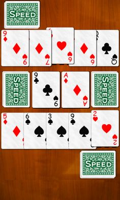 Speed a card game also known as Spit or Slam, is very fast-paced multiplayer card game. Speed supports online multiplayer mode over the internet. Gin Rummy, Family Card Games, Player Card, Games To Play, School Stuff, Puzzles, Board Games, Playing Cards, Hair Styles
