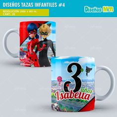 DISEÑOS TAZAS INFANTIL DE DIBUJOS ANIMADOS | PACK N5 Hello Kitty, Mickey Mouse, Troll, Rey, Mugs, Tableware, Moana, Design, Cute Mugs