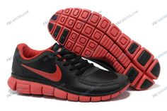 pick up c2ac3 a37fc cheapshoeshub com Cheap Nike free run shoes outlet, discount nike free shoes  Hot Sale New Arrival Nike Free Running Shoes Leather Punching Black Red