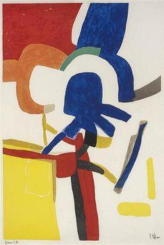 Maurice ESTEVE (1904-2001) : Totelem, lithographie couleur - 1955