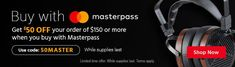 Monoprice Coupon: Monitors Headphones Home Products & More $50 Off $150 w/ MasterPass Checkout https://www.lavahotdeals.com/us/cheap/monoprice-coupon-50-150-masterpass-checkout/299887?utm_source=pinterest&utm_medium=rss&utm_campaign=at_lavahotdealsus&utm_term=hottest_12