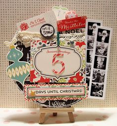 Mandy Koeppen here with this weeks Tuesday Tutorial. Have your kids started counting down to Christmas? Christmas Arts And Crafts, Merry Christmas To All, Christmas Goodies, Christmas Projects, Holiday Crafts, Vintage Christmas, Homemade Christmas, Christmas Diy, Xmas
