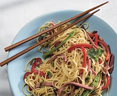Chinese Egg Noodles with Smoked Duck and Snow Peas recipe Roast Pork Lo Mein, Pork Roast, Chinese Egg, Chinese Food, Asian Recipes, Ethnic Recipes, Chinese Recipes, Egg Noodles, Asian Noodles