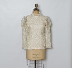 #vintage 60s ivory lace blouse by StopTheClock on Etsy