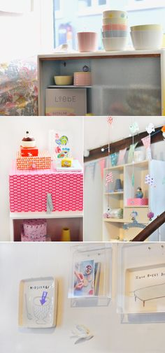 Liebe : boutique avec des céramiques aux tons pastels et de jolies boîtes de couleur fluos