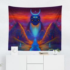 Searching for a Psychedelic Wall Tapestry? Shop for high quality Wall Tapestries designed by independent artists on W. Tapestry Design, Wall Tapestry, Cool Tapestries, A Team, Vivid Colors, Psychedelic, Hand Sewing, Congratulations, Oriental