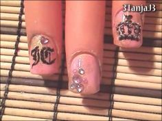 Designer Inspired #3: *Juicy Couture Nail Art Design* - Short Nails