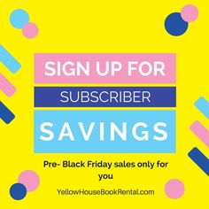 Pre Black Friday Sales just for subscribers! If you're not a subscriber, then sign up by clicking on the Special Discounts at the top of our home page! So many homeschol curriculum deals