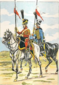 Dutch; 2nd Regiment of Hussars of the Royal Guard, 1810. Just before they became 2nd regiment of Chevau-Legers Lanciers of The French Imperial Guard