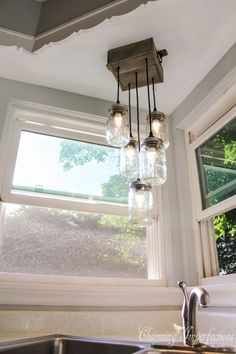 mason jars masons and vanities on pinterest build diy mason jar chandelier