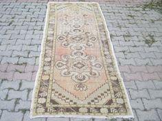 RUNNER RUG Vintage Oushak Runner Rug kilim rug by OLDVINSHOP